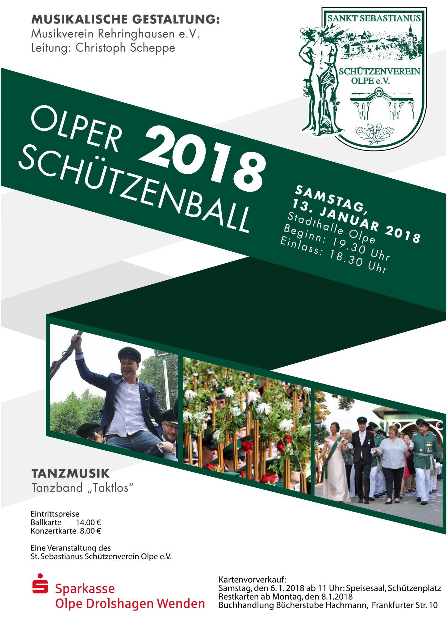 Schützenverein Olpe - Schützenball 2018 Plakat