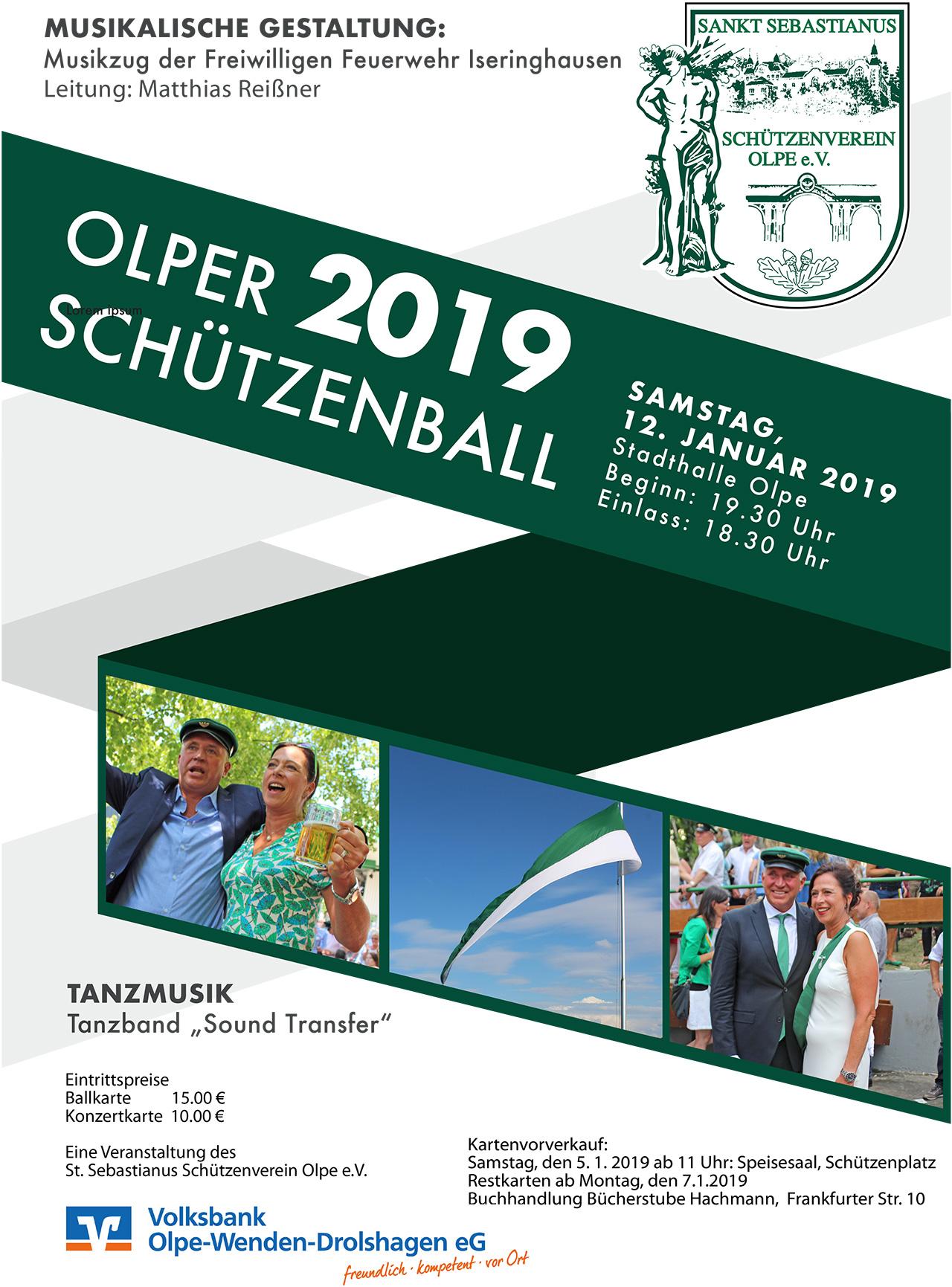 Plakat Schützenball 2019