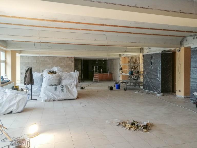Renovierung vom Speisesaal - Baufortschritt 30.01.19