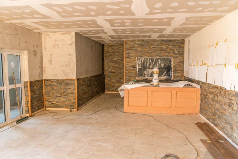 Renovierung vom Speisesaal - Baufortschritt 13.03.19