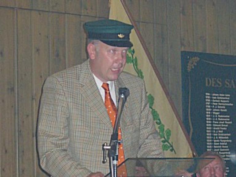 Ordensübergabe 2003 - Schützenkönig Rüdiger Vitt