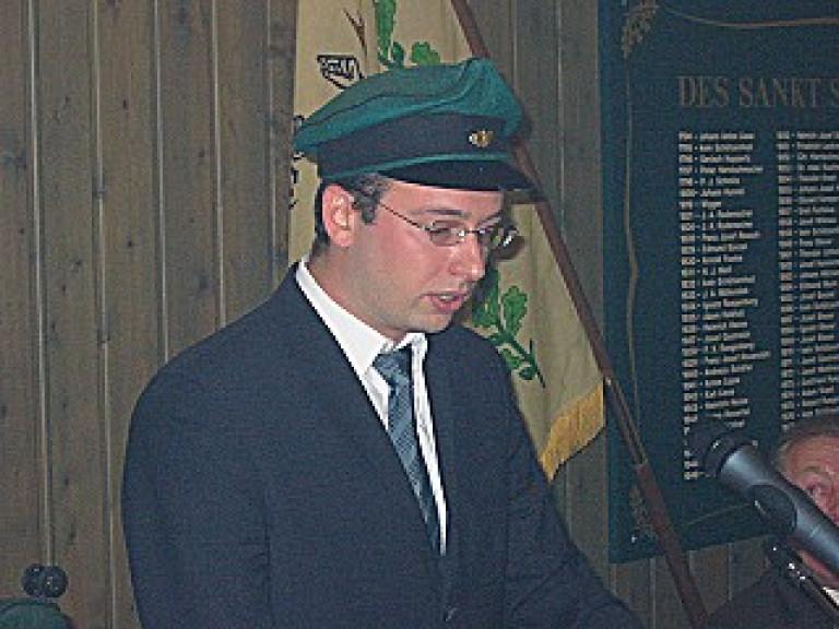 Ordensübergabe 2004 - Schützenkönig Sebastian Reither