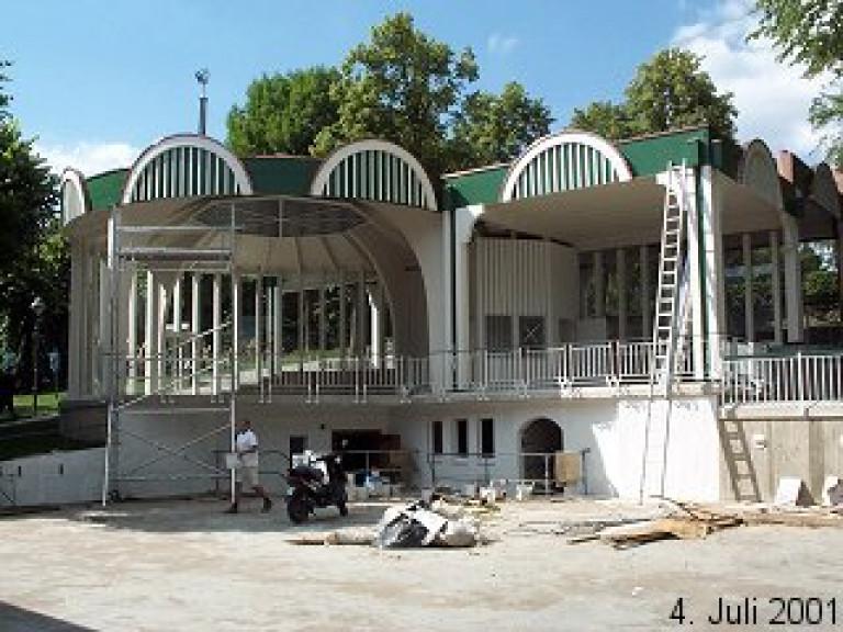 Neubau des Musikpavillons