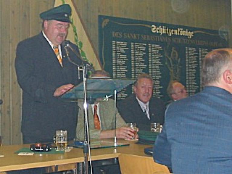 Ordensübergabe 2003 - Major Paul Imhäuser