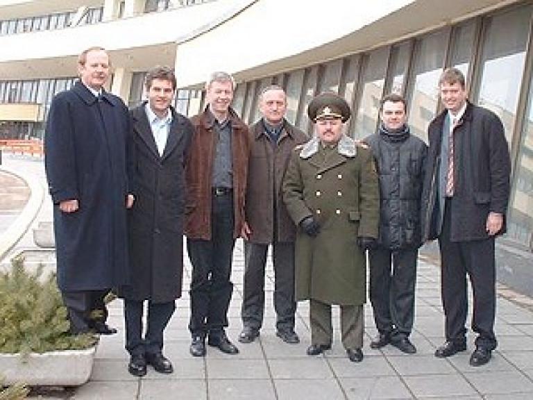 Oberst Fjodorow, Olt. Rumpff, Gerhard Reuber, Wladimir Jaskewitsch, Oberst Bersan, Oberstleutnant Woropajev, Lt. Zeppenfeld