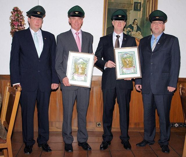 (v.L.) Major Peter Liese, Leutnant Thomas Wurm, Oberleutnant Achim Rosemeyer, Hauptmann Holger Harnischmacher