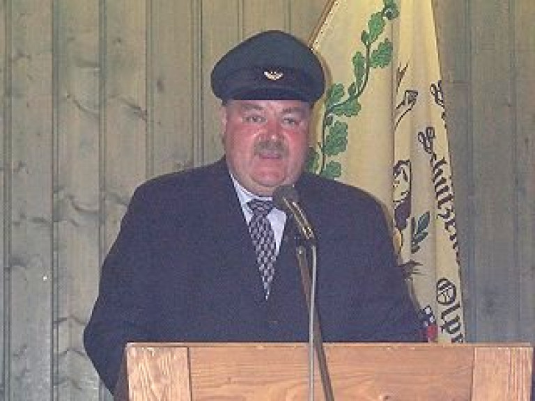Ordensübergabe 2002 - Major Paul Imhäuser