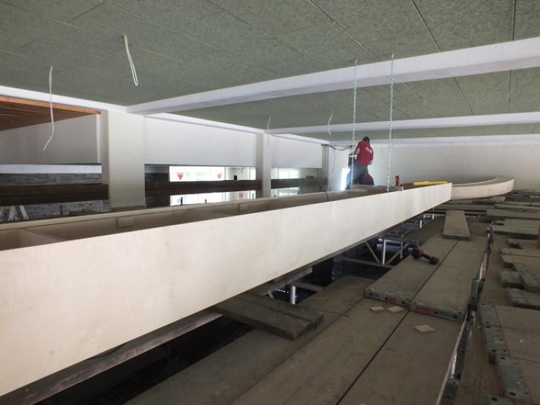 Erneuerung der Decke im Hauptzelt 2016