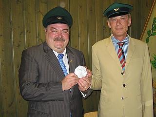 Ordensübergabe 2006 - Major Paul Imhäuser & Schützenkönig Dr. Thomas Schlösser