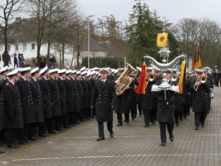 Vereidigung und feierliches Gelöbnis an der Marineuteroffiziers