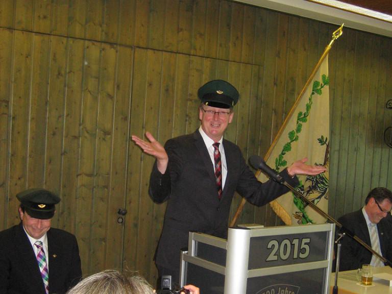 Ordensübergabe 2015 - König Michael Burghaus