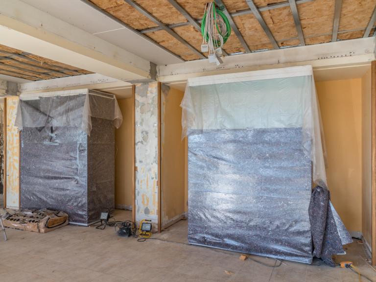Renovierung vom Speisesaal - Baufortschritt 16.02.19