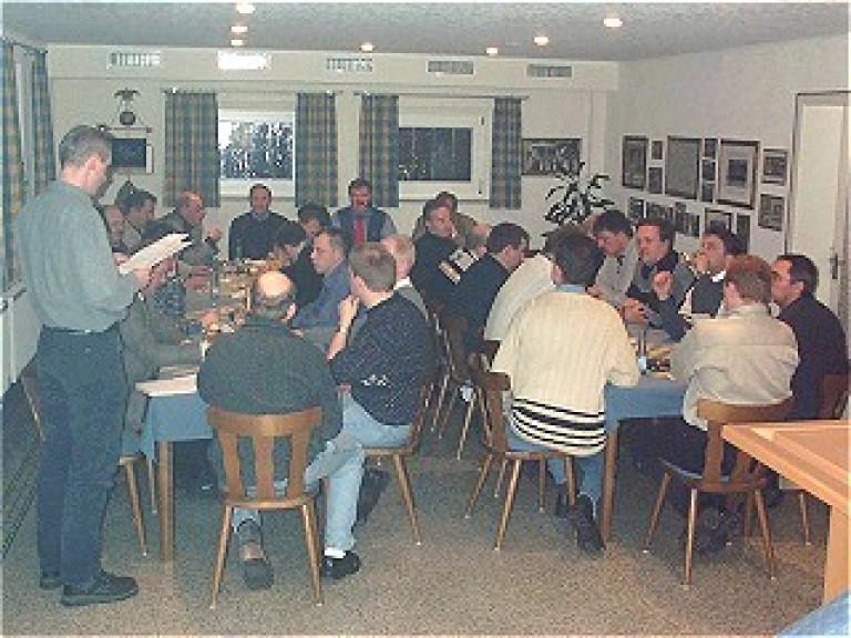 Sitzung der Korporalschaftsführer und Stellvertreter mit dem Vorstand des St. Sebastianus Schützenvereins Olpe e.V. am 2. März 2001