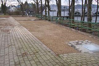 Erd- und Pflasterarbeiten auf der obersten Terrasse sowie im Eingangsbereich auf dem Schützenplatz